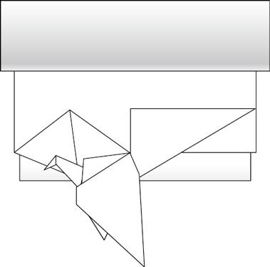 トイレットペーパー折り鶴