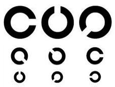 ランドルト環イメージ