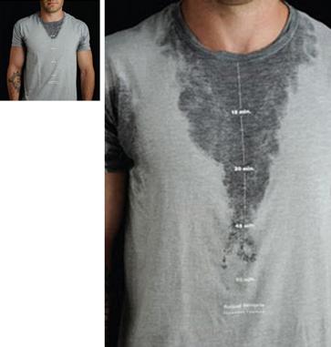 汗の量でどれだけ運動したかがわかるTシャツ