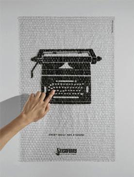 音響会社のポスターです。触ると…