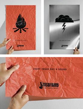 触るとそこに描かれているものっぽい音がなるというインタラクティブなポスター